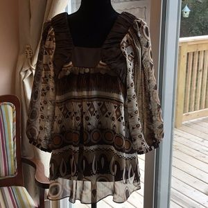 NWT BCBG Multi Color Shirt